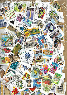 160 Australian stamps mainly on paper