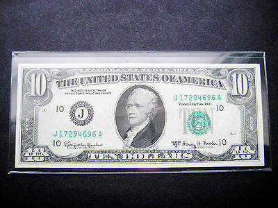 $10 1963 A Kansas City Federal Reserve Choice Unc Note