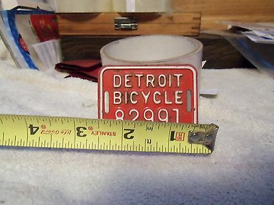 Detroit Bicycle License Plate