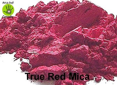True Red Mica Red Natural Cosmetic Grade for Home Makeup Soap Skincare Craft