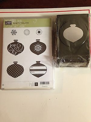 Stampin Up Delightful Decorations Stamp Set & Ornament Punch.