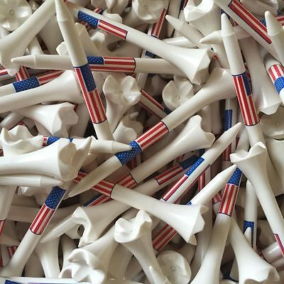 "100 3 1/4"" Pride Evolution USA American Flag Golf Tees White Wholesale"