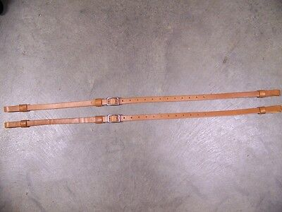 LEATHER LUGGAGE STRAPS for LUGGAGE RACK/CARRIER~2 SET~3/4 IN. WIDE~LT HONEY~S.S.