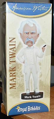 NEW ROYAL BOBBLES Mark Twain: Bobble Head