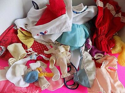 Vintage Lot of All Sized Doll Clothes Bargain Pack Misc Items