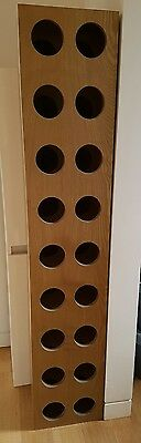 French Industrial timber wine storage rack
