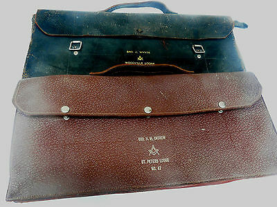 Two old Lodge Leather Satchels Bags