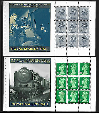 2 Great Britain Booklet panes Ex DX7 The story of the British Rail