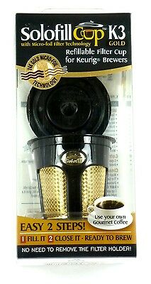 SOLOFILL K3 GOLD CUP 24k-Plated Refillable Filter Cup for Keurig®