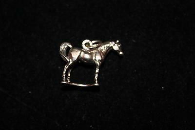 Vintage Sterling Silver 925 Detailed Standing Horse Charm   (S146)