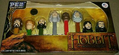 The Hobbit PEZ Candy Dispensers 8 piece collector set