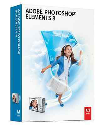 Adobe Photoshop Elements PSE 8.0 MAC Disk in packet (no box)