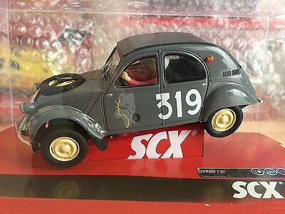 "A10155X3U0  Scx Citroen 2Cv Montecarlo Slot Car 1:32 ""new"""