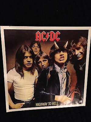 AC/DC Highway To Hell Atlantic Records Promo Poster Angus Gibson Guitar LP CD