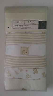 MAMAS AND PAPAS Baby Vests 9-12 Months  7 Pack