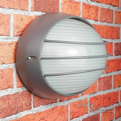 Antracita Pared Luz Exterior Lámpara Ip44 Luminarias estancas Lámparas