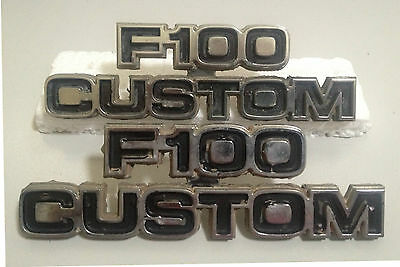 Ford F100 Cowl Emblems 1973-1979 Badges Name Tags