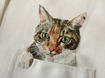 Machine embroidery design applique Cats (on pocket)