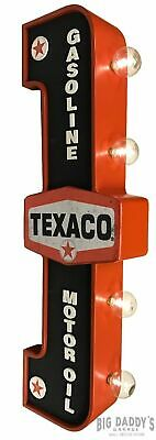 Texaco Double Sided Light Sign Vintage Style Gas Oil Garage Truck Service LED