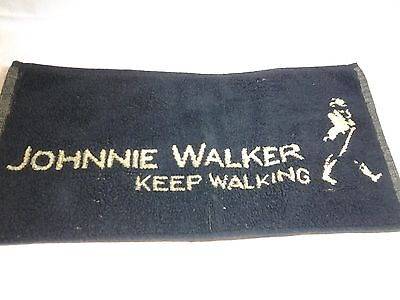 Johnnie walker used bar towel  beer collectibles whiskey