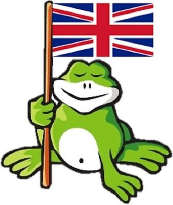 30 Custom British Frog Personalized Address Labels