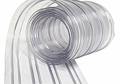 """150' Roll - 8"""" Wide Ribbed PVC Plastic Strip Curtain for Walk In Coolers"""