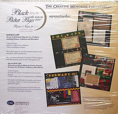 Creative Memories Black Original Style 12x12 Pocket Pages - Single page