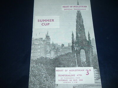 Hearts v Dunfermline May 1964 Summer Cup