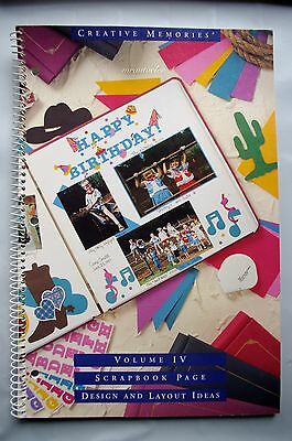 Creative Memories Scrapbook Page Design & Layout Ideas Vol IV Book