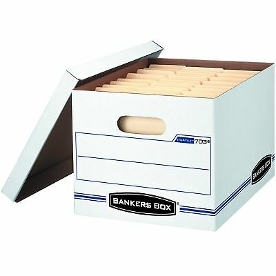 Bankers Box Stor/File Storage Boxes with Lift-Off Lid, Letter/Legal, 6 Pack