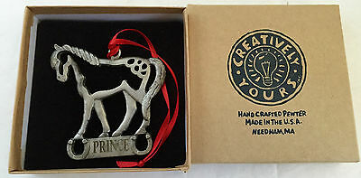 Creative Yours - Handcrafted Pewter Horse Ornament - Prince