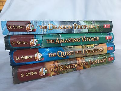 GERONIMO STILTON The Kingdom Of Fantasy BOOK SET .. 4 Hard Cover Books Hardcover