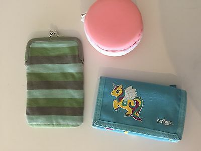 Smuggle Unicorn Wallet And 2 Children's Purses