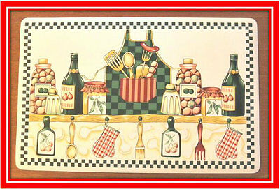 New! Set of 6 Kitchen Placemats Place Mats Dinner Table Decor Home Party Design
