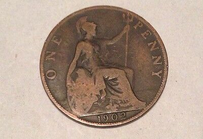 Edward VII 7th. Bronze One Penny Coin 1902
