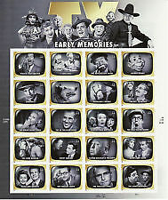 TV EARLY MEMORIES 20 STAMP SHEET -- USA issue 2009