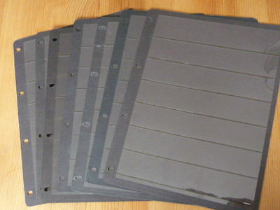 HAGNER STOCK CARDS Black 7 strips single sided  Pack of 7 Free Postage