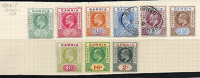 Gambia 1902-05 Edward Vii Part Set To 2/- Sg54 - Mounted Mint & Used