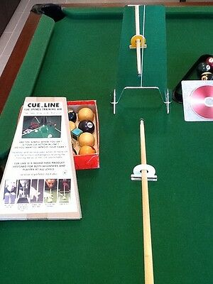 Snooker, Pool & Billiards Training  Aid For a True & Straighter Cue Action