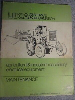Lucas Service Information For Agricultural& Industrial Machinery Electrical
