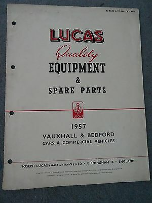 Lucas Equipment & Spare Parts 1957 Vauxhall & Bedford Cars & Commercial Vehicles