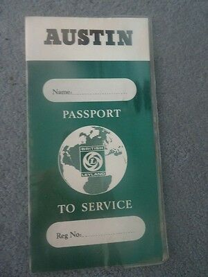 Austin Passport To Service Manufacture Booklet 1972