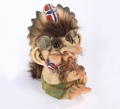 Troll Nyform 025 Con Pipa New 2017 Originale Collezione Norvegese Portafortuna