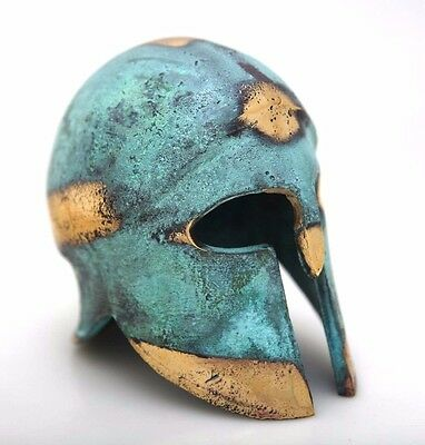 Ancient Greek Bronze Museum Replica Vintage Corinthian Soldier Battle Helmet 376