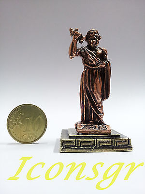Ancient Greek Olympian God Miniature Sculpture Statue Zamac Zeus King Of Gods