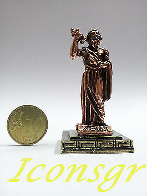 Ancient Statue Zeus King Of Gods Greek Olympian God Miniature Sculpture Zamac