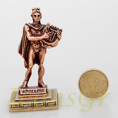 Statue Apollo Olympian God Pantheon Zamac Ancient Greek Miniature Sculpture  C