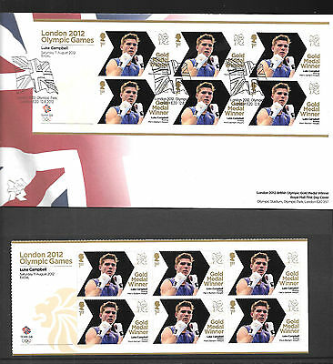 2012 X 2 Luke Cambell Fdc & Unmounted Mint Mini Sheet Very Fine