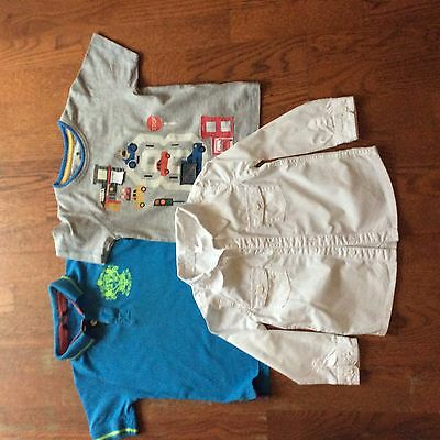 Baby boys white shirt and 2 x t-shirts. Age 18-24 months