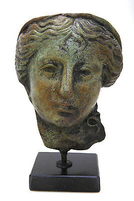 Ancient Statue Health Hygeia Greek Goddess  Sculpture On A Marble Stand